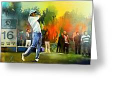 Golf In Gut Laerchehof Germany 01 Greeting Card