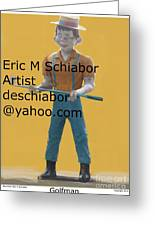 Golf Man Giant Greeting Card
