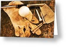 Golf Memorabilia Greeting Card
