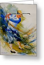 Golf Player Greeting Card