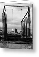 Golf Range Chelsea Piers On The Hudson River New York City Greeting Card