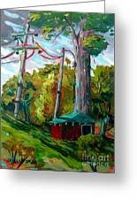 Golf Shed Series No 15 A Synthesis Greeting Card by Charlie Spear