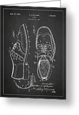 Golf Shoe Patent Drawing From 1927 Greeting Card