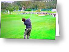 Golf Swing Drive Greeting Card