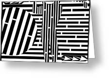 Golf Swing Maze  Greeting Card