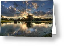 Golfcourse Sunset Greeting Card