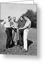 Golfers, 1938 Greeting Card