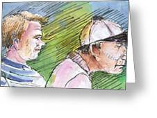 Golfers In Soufflenheim 01 Greeting Card