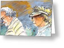 Golfers In Soufflenheim 02 Greeting Card