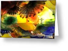 Golotha Glass Flowers Greeting Card