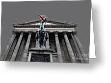 Goma Glasgow Pop Art Grey Greeting Card