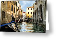 Gondola 158-venice Greeting Card
