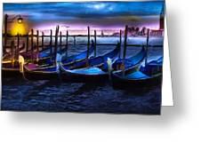 Gondola At Rest Greeting Card