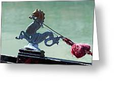 Gondola Cavai Horse Ornament Venice Italy Greeting Card