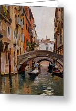 Gondola On A Venetian Canal Greeting Card