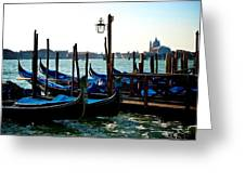 Gondolas At Rest Greeting Card