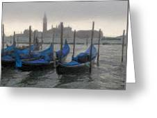 Gondolas On Grand Canal Greeting Card