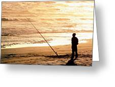 Gone Fishin' Instead Of Just A-wishin' Greeting Card