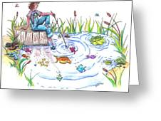 Gone Fishing Greeting Card by Kelly Walston