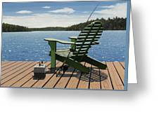Gone Fishing Aka Fishing Chair Greeting Card