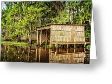 Gone Fishing On Caddo Lake Greeting Card