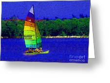 Gone For A Sail Greeting Card