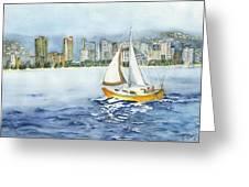Gone Sailing Greeting Card