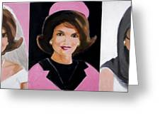Good And Plenty Jackie O  Greeting Card by Candace Lovely