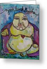 Good Luck Buddha Greeting Card