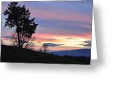 Good Night Blue Ridge Greeting Card