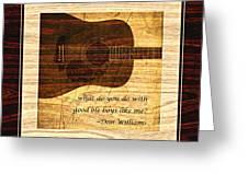Good Ole Boys - Don Williams Greeting Card