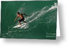 Good Waves Good Body Greeting Card