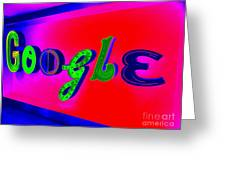 Google's Hallway Greeting Card