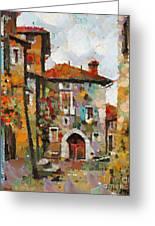 Gordes- Colorful Street Greeting Card