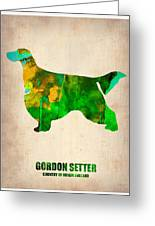 Gordon Setter Poster 2 Greeting Card by Naxart Studio