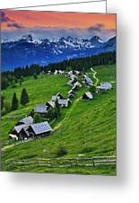 Goreljek Shepherding Village In Alpine Greeting Card