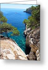 Gorge At Calanque De Port Miou In Cassis France Greeting Card