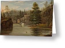 Gorge Of The St Croix Greeting Card by Henry Lewis