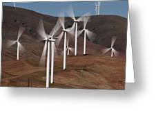 Gorge Windmills Greeting Card