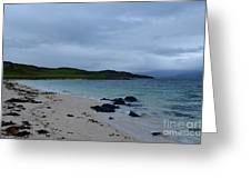 Gorgeous Coral Beach On Skye In Scotland Greeting Card