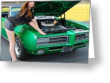 Gorgeous Green Goat Gto Greeting Card