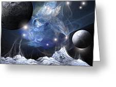 Gorgeous Spacescape From One Planet Greeting Card