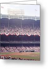 Gorgeous View Of Old Yankee Stadium Greeting Card