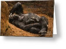 Gorilla - Painterly Greeting Card