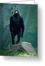 Gorilla Rock Greeting Card