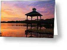 Gorton Pond Sunset Warwick Rhode Island Greeting Card