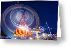 Gosford Ferris Wheel Greeting Card by Steve Caldwell