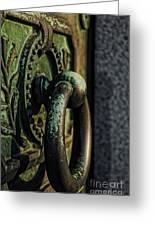 Goth - Crypt Door Knocker Greeting Card by Paul Ward