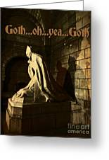 Goth Poster Greeting Card