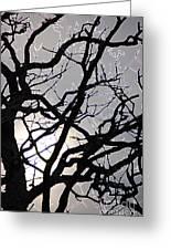 Goth Tree Greeting Card